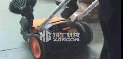 手推式扫地机用于家具生产车间的清扫
