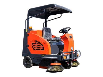 座驾橘红色扫地车新款